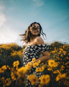 Yellow flowers and blue skies by Bryan Adam Castillo Bryan Adams, Happy People, Yellow Flowers, Product Launch, Sky, Blue Skies, Instagram, Women, Heaven