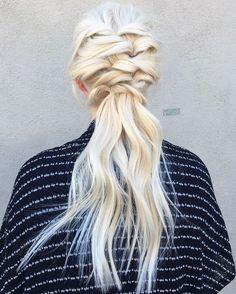 Delicately twisted on @jillianturpin blonde my the blonde queen @maggiemh #upstyle #weddinghair
