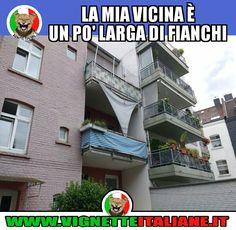 La mia vicina di balcone (www.VignetteItaliane.it)