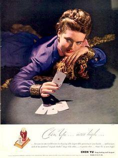 Chen Yu Nail Polish ad, 1943, photo by Horst p. Horst   by skorver1