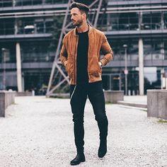 coolcosmos: Daniel F. [Suede jacket : Zara Man] | Raddest Men's Fashion Looks On The Internet