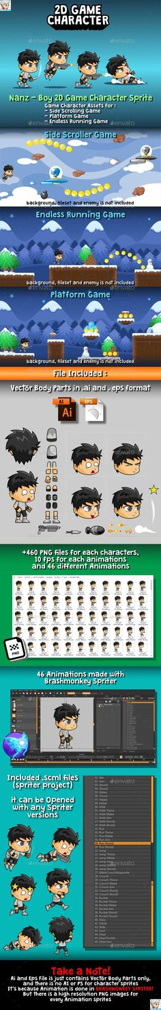 #Nanz - #2D Game Character Sprite - Sprites Game Assets Download here:   https://graphicriver.net/item/nanz-2d-game-character-sprite/20372285?ref=alena994