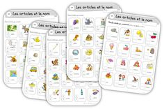 """Je regroupe dans cet article toutes les fiches de grammaire utilisables en compl… I gather in this article all usable grammar sheets in addition to the method """"Making grammar in CP"""" The articles and the name A very complete series … Learning French For Kids, Teaching French, Article Grammar, Montessori, Back To School Highschool, French Flashcards, Back To School Bulletin Boards, French Grammar, French Classroom"""