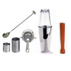 Amazon.com: WIN-WARE - Boston Cocktail Shaker Gift Set with Hawthorn Strainer, Muddler, Bar Spoon With Masher and 25ml and 50ml Jiggers for perfect pours everytime - Great kit for professional bartending or home/recreation use!: Home & Kitchen