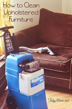 If you learn How to Clean Upholstered Furniture it is possible to keep your upholstery looking its best for a long time. Rug Doctor machines can be rented from your local supermarket or home improvement store for less than the cost of a professional cleaning service.