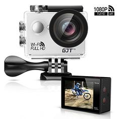 GJT GA1 1080P Action Camera 12MP Full HD Sports Camera WiFi 30M Waterproof Cam 2 LCD 170Wide Angle Lenswith Multi Accessories -- Click image to read more details. #NicePictures #underwatercameras