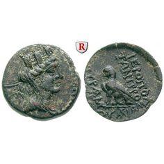 Kilikien, Hieropolis Kastabala, Bronze 2.-1.Jh. v.Chr., vz: Bronze 21,3 mm 2.-1.Jh. v.Chr. Kopf der Tyche mit Mauerkrone und… #coins