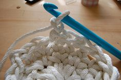 Rope crochet basket