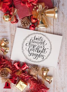 Free  Hand lettered Winter Printable: A Few of My Favorite Things