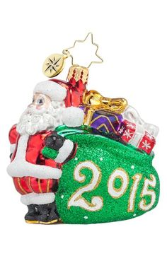 Christopher Radko 'Jolly Year - 2015' Santa Ornament available at #Nordstrom