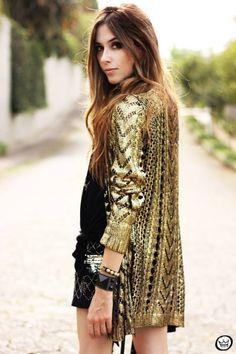 metallic cardigan  #