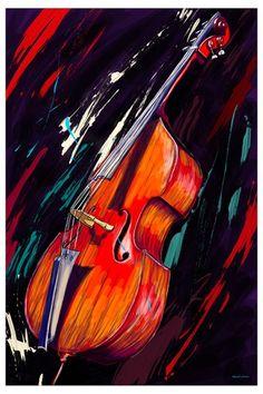 Maxwell Dickson Double Bass Wall Art