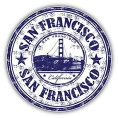 San Francisco City California United States Grunge Travel Stamp Car Bumper Sticker Decal x San Francisco City, San Francisco California, Car Bumper Stickers, Laptop Stickers, Grunge, Travel Stamp, Passport Stamps, Custom Stamps, Aesthetic Stickers