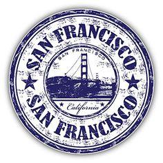 San Francisco City California United States Grunge Travel Stamp Car Bumper Sticker Decal x San Francisco City, San Francisco California, Car Bumper Stickers, Laptop Stickers, Grunge, Travel Stamp, Aesthetic Stickers, Logo Sticker, Photoshop
