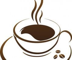 Cup with coffee abstract illustration vector 07