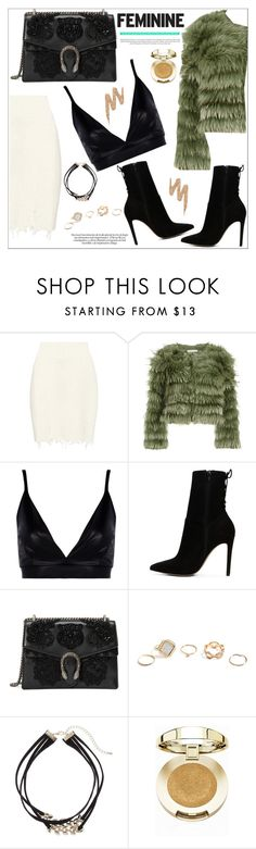 """""""Fem"""" by vane-lpz ❤ liked on Polyvore featuring adidas Originals, Alice + Olivia, Boohoo, ALDO, Gucci, GUESS, Apt. 9, Milani and Urban Decay"""