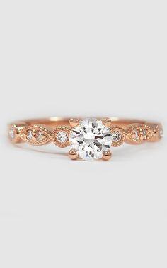 Tiara Diamond Ring Rose Gold