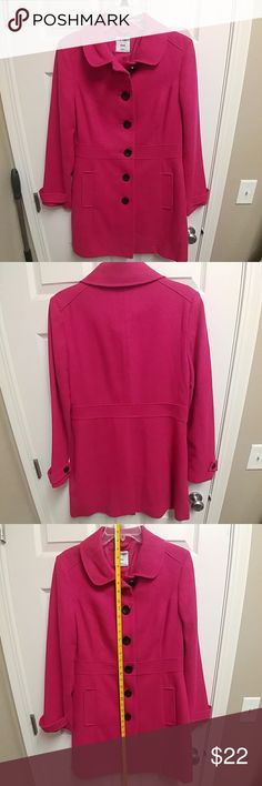 Old Navy Long Wool Coat Excellent Condition. Only worn a few times. Long wool coat in fuchsia. Size Medium Old Navy Jackets & Coats Pea Coats