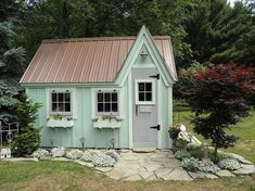 Build ANY Shed In A Weekend - 10 Whimsical Garden Shed Designs - Storage Shed Plans - Country Living Our plans include complete step-by-step details. If you are a first time builder trying to figure out how to build a shed, you are in the right place! Diy Storage Shed Plans, Garden Tool Storage, Storage Sheds, Backyard Storage, Backyard Sheds, Outdoor Storage, Garden Tools, Shed Landscaping, Backyard Office