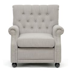 Lombardi Light Grey Linen Modern Club Chair - really like this light grey & it got good reviews
