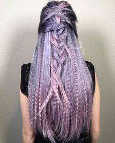 Purple/ Lilac hair Color, Cut and Style by Guy Tang Lavender Hair, Lilac Hair, Ombre Hair, Trending Hairstyles, Cool Hairstyles, Men's Hairstyle, Braid Hairstyles, Formal Hairstyles, Crimped Hair