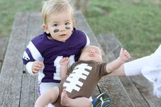 Big brother little brother football player and football Halloween costumes
