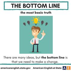 idiom Bottom line