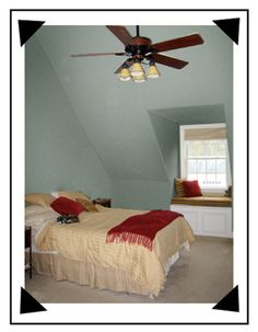 Keep walls ceilings uniform to create the illusion of more