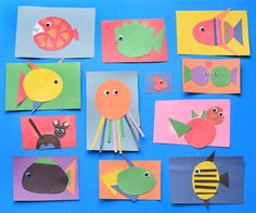 [feature] Invitation To Create- Under The Sea. Great fine motor ocean craft for preschool, kindergarten, or elementary kids. Open-ended project allows for creativity- kids can make fish, octopus, or other sea creatures!