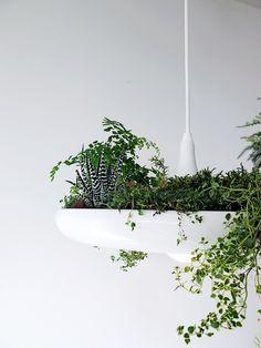 Unique lamp design multifunction purpose idea: Plantable Light Fixture