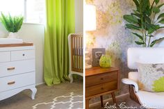 Project Nursery - green-and-white-nursery