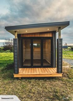 Transportable Room / Sleepout for sale on Trade Me, New Zealand's auction and classifieds website Backyard House, Building Renovation, Reading Room, Beauty Room, Cabana, Small Spaces, Gazebo, Modern Design, Outdoor Structures