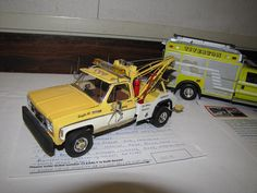 Nice detail on a kit that is not easy to build. It takes a Chevy to tow a Chevy. LOL :-)