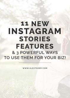 Overwhelmed by Instagram stories? What makes it better than Snapchat? How can I use them to improve my presence on Instagram? IG expert Alex Tooby explains in this awesome blog post. I didn't know a ton of these features even existed! Great read