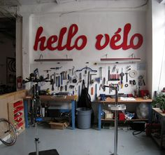 hello vélo - Toronto bike shop goes all the way with logo designed in Bello Pro by Underware