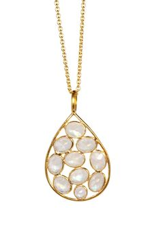 #Moonstone #pendant perfect for #summer #fashion and great for layering with other #necklaces..