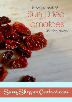Sun dried tomatoes are a delicious addition to many meals, including salads, pizza, soups and so much more. While tomatoes are fresh off the vine, the sun dried flavor makes them take on a different, richer flavor. Click to find out how easy it is to make your own in the oven!