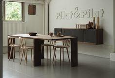 Edwin tafel, Pas stoelen en Hotze II hangkast Pilat&Pilat #interieur #design #interior #eettafel