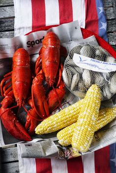 New-England-Lobster-Roll-Recipe Clam Bake Lobster Bake, Lobster Roll Recipes, Bucket Cooler, Lobster Shack, Fish And Seafood, Seafood Party, Red And Pink Roses, Let Freedom Ring