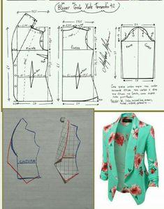 Sensational Tips Sewing Pattern Ideas. Brilliantly Tips Sewing Pattern Ideas. Coat Patterns, Dress Sewing Patterns, Clothing Patterns, Sewing Ideas, Sewing Projects, Crochet Patterns, Blazer Pattern, Jacket Pattern, Collar Pattern