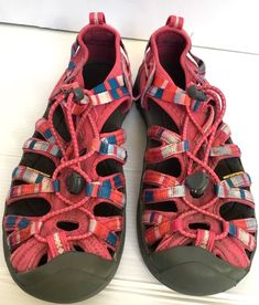 675d53544ece KEEN Girl s size 4 EU 36 Whisper Youth Sandal Walk Sport Hike Shoes Pink  Stripe  KEEN  Sandals