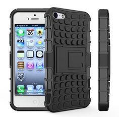 For iPhone 5s Case Heavy Duty Armor Shockproof Hard Soft Silicone Phone Case For iPhone SE Rugged Rubber Cover For iphone 5 (<