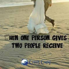 When you give you receive!