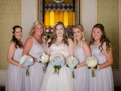 Real bride Selina wore TR1687A and her bridesmaids wore matching combs, CP95.