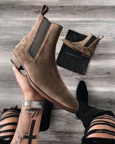 The alpaca granada chelsea boots – Shoes Mens Suede Boots, Mens Shoes Boots, Leather Ankle Boots, Shoe Boots, Men's Boots, Man Shoes, Cow Leather, Stylish Mens Fashion, Mens Boots Fashion