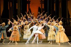 Lauren Cuthbertson as Cinderella, Federico Bonelli as the Prince, and artists of the Royal Ballet in Frederick Ashton's Cinderella.  The Royal Ballet season 2010/11 www.roh.org.uk Photo by Tristram Kenton