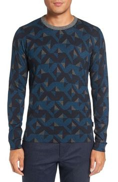 Ted Baker London 'Malone' Print Sweater