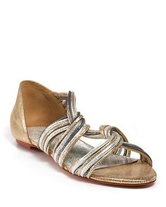 "Loeffler Randall 'Lila""Flat Sandals: On sale $221.25 #Sandals #Loeffler_Randall"