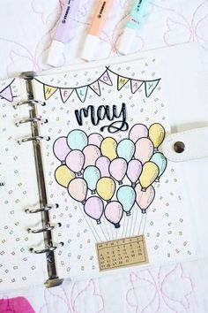 Bullet Journal Monthly Cover Ideas For May 2019 - Crazy Laura A new month in your bullet journal can be tough, espically if you don't have your theme yet. These May monthly cover page ideas will spring you into summer! Bullet Journal Première Page, Bullet Journal Cover Ideas, Bullet Journal Banner, Bullet Journal Notebook, Bullet Journal School, Bullet Journal Themes, Journal Covers, Bullet Journal Inspiration, Journal Ideas