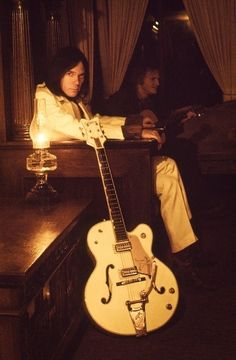 Neil Young and his famous Gretsch White Falcon
